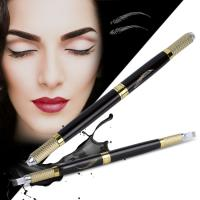 China Multifunctional Black Double Head Manual Tattoo Pen 3D Embroidery Tattoo Pen wholesale