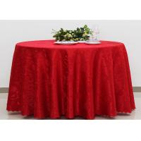 Buy cheap Polyester Jacquard Plain Linen Table Cloths For Wedding Party Oilproof Fire Retardant product
