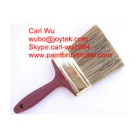Natural pure bristle Chinese bristle synthetic mix paint brush wood handle plastic handle 4 inch PB-013