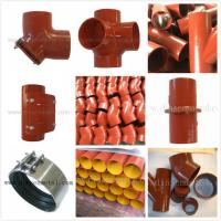 Buy cheap EN877 SML cast iron pipe,red epoxy coated from wholesalers