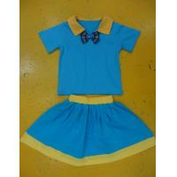 Buy cheap Royal Blue And Mustard Children'S Cotton Pajamas Home Playwear Brother Sister 2pc Sets product
