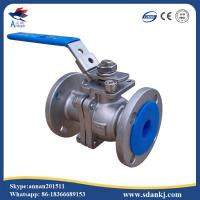 Buy cheap 2 Pcs Flange Type Stainless Steel Ball Valve for hot water WCB DN50 PN16 ANSI DIN product