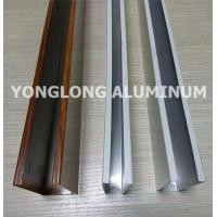 Buy cheap Mechanical Strength Aluminum Curtain Wall Profile Extrusions Rectangle Shape product
