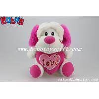 """Buy cheap 10"""" Wholesale Cute Stuffed Dog Animals With Pink Heart Pillow product"""