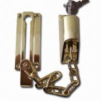 Buy cheap Brass-plated Chain Door Lock, Made of Zinc Alloy, OEM Orders are Accepted product