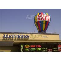 Roof Decoration Rainbow Helium Ground Balloons Inflatable With Banner Printing