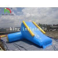 Buy cheap U / V Shape 0.9mm PVC Tarpaulin Inflatable Big Air Slide For Water Yelow / Blue from wholesalers