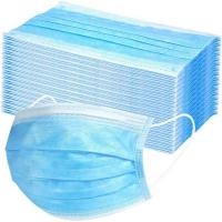 China Blue Hospital Face Masks Machine Made Doctor Use High Bacterial Particle Filtration on sale