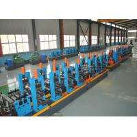 Buy cheap ERW Round Carbon Steel Pipe Making Machine With Worm Adjustment High Precision product