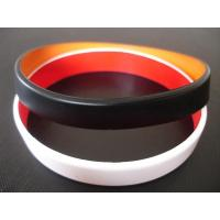 Buy cheap 2 layers silicone bracelet, Top quality two layers silicone bracelet,wristbands, Custom made colors product