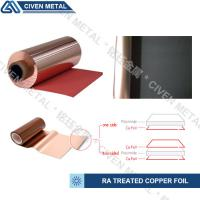 Buy cheap Red / Black Fatigue Resistance Treated Ra Copper Foil 12um 18um 25um product