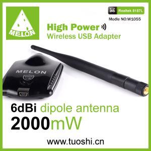 China Realtek 8187L wifi usb adapter 54Mbps omni antenna 6dbi Melon W1055 on sale