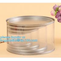 Buy cheap PET Jar 85mm neck size food grade clear PET plastic Can screw type with aluminium easy open endsPackaging plastic can 25 product