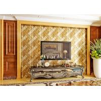 Buy cheap Luxurious Modern Style Wallpaper with Removable Gold Foil Material , Geometric Pattern product