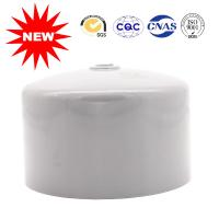 China Raised Head Shape PVC Water Pipe Fittings Light Gray Color UPVC Cap Pipe Glug on sale