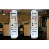 Quality customized Inflatable advertising pillar, outdoor advertising cone, with remote control colorful LED light for sale