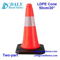 50cm Warning Traffic Cone for sale for road,highway,street,construction and parking safety cones with reflective sleeve