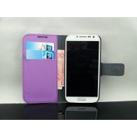 China Samsung Galaxy S4 Purple Wallet Flip Leather Case on sale