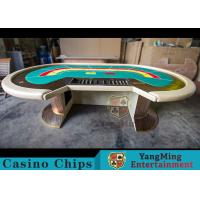 Buy cheap Waterproof Casino Poker Table / Professional Poker Table With Leather Handrails product