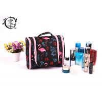 Buy cheap Large Size Portable Makeup Bag , Waterproof Canvas Travel Pink Crane Lady Cosmetic Bag product