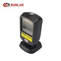 Buy cheap Black Case On Counter Supermarket Handfree 2D Barcode Scanner USB cable product