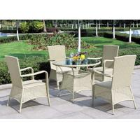 light green outdoor rattan furniture bbq dining set with armrest
