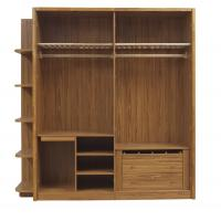 Buy cheap Open doors cloth armoire by wood panel with Sock and tie tray inside drawer chest in metal sliding rail outside racks product