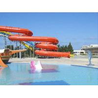 Buy cheap Anti-UV Outdoor Swimming Pool Water Slides For Family Members , Spiral Water Slide product