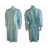 Buy cheap Blue Knitting Cuff Disposable Isolation Gowns Hospital Clothing PP SMS Material product