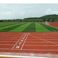 400 Meter Multi Purpose Gym Flooring , Spray Coat Synthetic Sports Flooring