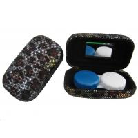 Buy cheap Hard Creative Travel Contact Case With Cool Leopard Pattern Customized Logo product