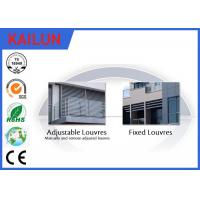 Quality Powder Coating Sun Shade Aluminium Vertical Louvres , Outdoor Aluminium Window Louvres Blinds for sale