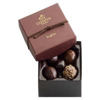 Quality custom rigid lid and base truffle chocolate box with foil stamping logo for sale