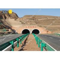 Buy cheap W Beam Metal Road Safety Barrier Roadside Guardrail For Curved Median Strip product