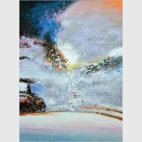 Buy cheap Hand Painted Abstract Landscape Paintings Modern Wall Art on Canvas for Decor from wholesalers