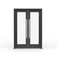 Buy cheap Reflective Double Glass Swing Doors Aluminum Spring Doors for Hotel Lobby product