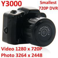 Y3000 8MP Thumb 720P Mini DVR Camera Smallest Outdoor Sports Spy Video Recorder PC Webcam