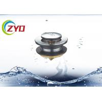 Buy cheap SS Material Pop Up Bathroom Sink Drain, Bathtub Pop Up Drain Without Overflow Hole product