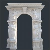 Buy cheap well polished natural wholesale hand carved man made stone white fireplace product