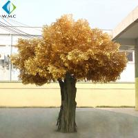 Buy cheap Garden Decoration Artificial Banyan Tree , Yellow Leaves Fake Ficus Tree product