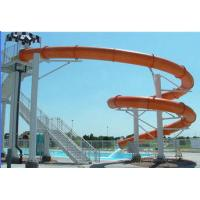 Buy cheap Fiberglass Swimming Pool Water Slides , Customized Water Park Equipment For Kids product