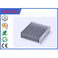 Quality Sliver Anodized Industrial Aluminium Profiles , High Power Extruded Aluminum Heat Sink Enclosure for sale