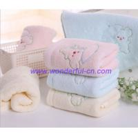 Buy cheap Custom blue and pink and yellow embroidered hand towels product