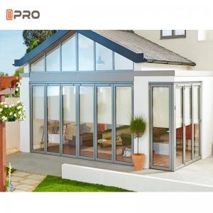 Buy cheap Aluminium Glass Folding Doors Steel Frameless Aluminium Pella Sliding Patio Doors product