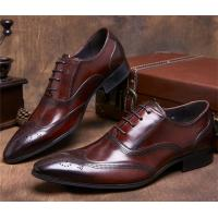 Buy cheap Almond Wingtips Toe Classic Dress Shoes Formal Occasions With Carved Patterns product