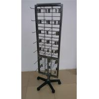 Buy cheap Metal Wire Grid Display Racks , Flooring Double Sided Display Stand Shelving product