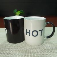 China Souvenir gift  COLD HOT heat sensitive color changing mugs stocked wholesale