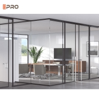 Buy cheap Modern Sliding Office Glass Partitions Room Wall Panel Divider product