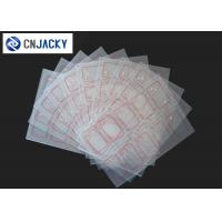 Buy cheap 2 * 5 / 3 * 8 Layout Clear Transparent Smart Card Inlay product