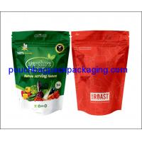 Buy cheap Aluminium foil stand up pouch, printed aluminium foil bag doypack with zipper for vegetable 1 KG product